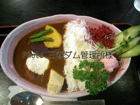 三春ダムカレー_ふる里(管理所)